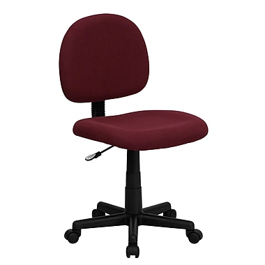 Flash Furniture BT-660-BY-GG Fabric Mid-Back Armless Task Chair, Burgundy