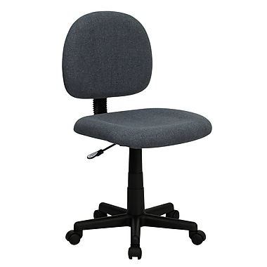 Flash Furniture BT-660-GY-GG Fabric Mid-Back Armless Task Chair, Gray