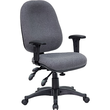 Flash Furniture Fabric Computer and Desk Office Chair, Adjustable Arms, Gray (BT662GY)