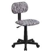 Flash Furniture Fabric Computer and Desk Office Chair, Armless, Black/White (BTZBK)