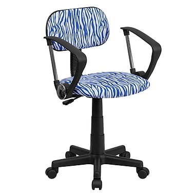 Flash Furniture Fabric Zebra Print Computer Chairs With Arms
