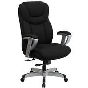 Flash Furniture HERCULES Series Big and Tall Fabric/Metal Office Chair, Black
