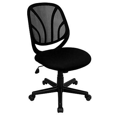 Flash Furniture GO-WY-05-GG Mesh Mid-Back Armless Task Chair, Black