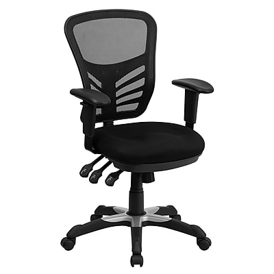 Flash Furniture Mesh Managers Office Chair, Adjustable Arms, Black (HL0001)