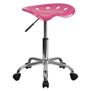 "Flash Furniture 25.75"" Vibrant Tractor Stool, Pink (LF214APINK)"