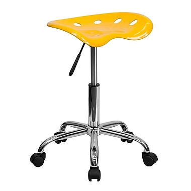 Flash Furniture – Tabouret tracteur éclatant de 25,75 po, jaune (LF214AYELLOW)
