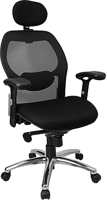 Flash Furniture Mesh Executive Office Chair, Adjustable Arms, Black (LFW42HR)