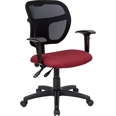 Flash Furniture Fabric Executive Office Chair, Adjustable Arms, Burgundy (WLA7671SYGBYA)