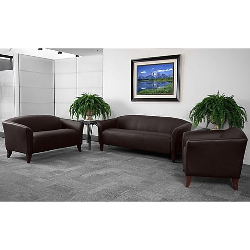 Flash Furniture Hercules Imperial Leather Reception Sets, Brown (111SETBN)