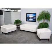 Flash Furniture Hercules Imperial Leather Reception Sets, White (111SETWH)