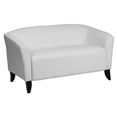 Flash Furniture – Hercules Imperial, causeuse en cuir, blanc