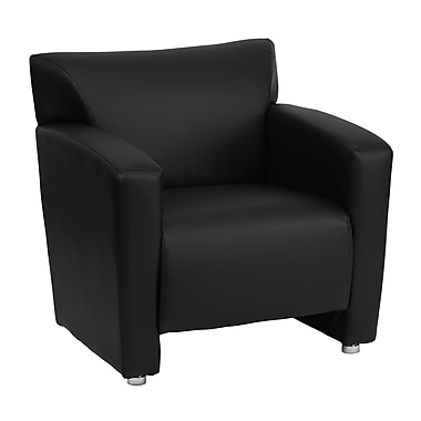 Flash Furniture Hercules Majesty Series Leather Chair, Black