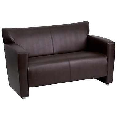 Flash Furniture – Causeuse en cuir de la série Hercules Majesty, brun