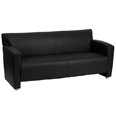 Flash Furniture HERCULES Majesty Series Leather Sofa, Black
