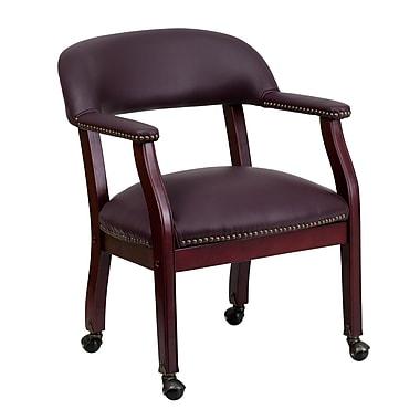 Flash Furniture Solid Hardwood Conference Chair, Burgundy (BZ100LF19LEA)