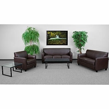 Flash Furniture Hercules Diplomat Wood Reception Sets, Brown (BT827SETBN)