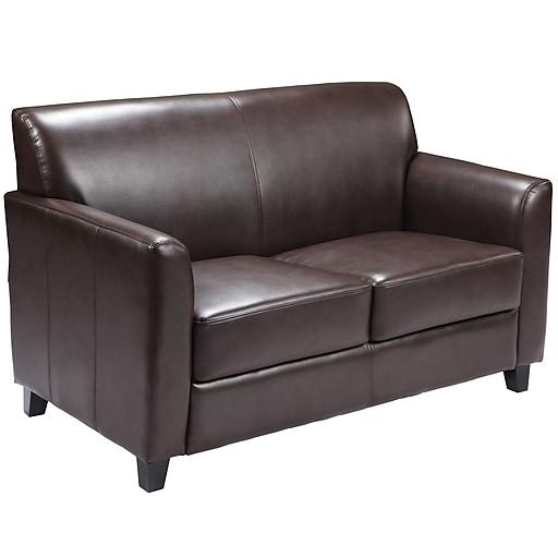 Flash Furniture HERCULES Diplomat BT-827-2-BN-GG Leather Sofa, Brown