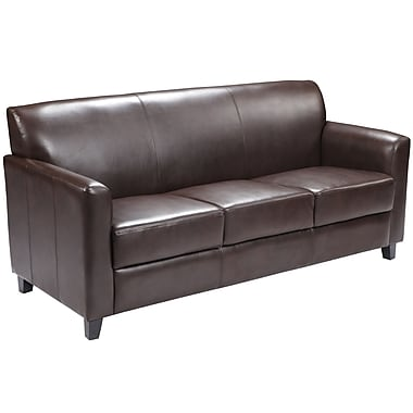 Flash Furniture – Sofa en cuir Hercules Diplomat, brun