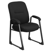 Flash Furniture HERCULES Series Big and Tall 400 lb. Capacity Fabric Executive Side Chair with Sled Base, Black
