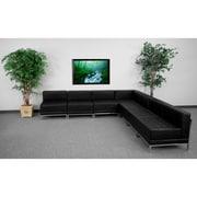 Flash Furniture – Ensemble modulaire 6 avec 6 fauteuils de centre Hercules Imagination, noir