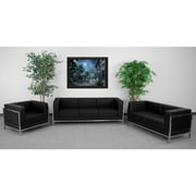 Flash Furniture HERCULES Imagination Series 3 Piece Sofa Set, Black