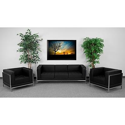 Flash Furniture HERCULES Imagination Series Sofa & Chair Set, Black 257565