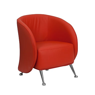 Flash Furniture Hercules Jet Leather Soft Reception Chair, Red (ZBJET855RED)