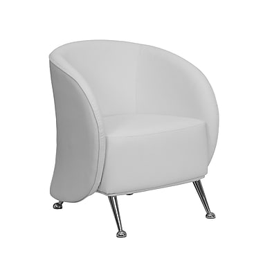 Flash Furniture Hercules Jet Leather Soft Reception Chair, White (ZBJET855WH)