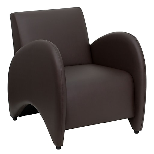 Flash Furniture HERCULES Patrician LeatherSoft Reception Chair, Brown
