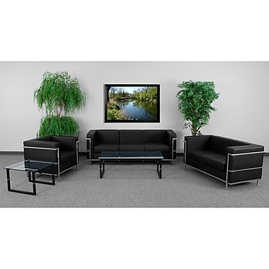 Flash Furniture Hercules Regal Steel Reception Set, Black (ZBREGAL810SETBK)