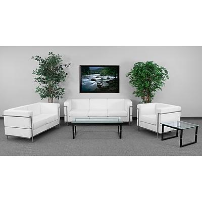 Flash Furniture Hercules Regal Steel Reception Set, White (ZBREGAL810SETWH)