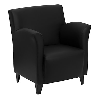 Flash Furniture Hercules Roman LeatherSoft Reception Chair, Black (ZBROMANBK)