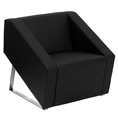 Flash Furniture Hercules Smart LeatherSoft Reception Chair, Black (ZBSMARTBK)