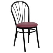 Flash Furniture HERCULES Series Fan Back Metal Chair, Burgundy Vinyl Seat, 4/Pack