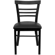 Flash Furniture Hercules Series Black Ladder Back Metal Restaurant Chair (XUDG6Q6B1LADBKV)