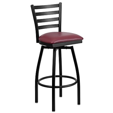 Flash Furniture – Tabouret de bar xU6F8BLDSWVBGV, bourgogne