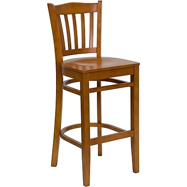 Flash Furniture Hercules Series, Cherry Wood Vertical Slat Back Restaurant Bar Stool