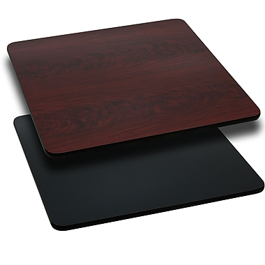 Flash Furniture 24'' Square Reversible Laminate Table Top, Black or Mahogany