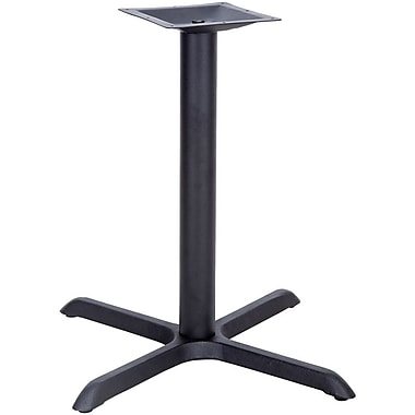 Flash Furniture 33'' x 33'' Cast Iron Restaurant Table X-Base with 4'' Dia. Table Height Column, Black