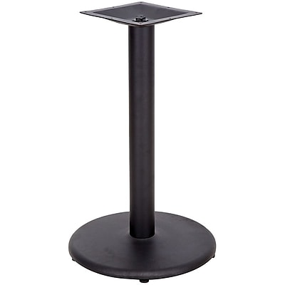 Flash Furniture 18'' Round Cast Iron Restaurant Table Base with 3'' Dia. Table Height Column, Black