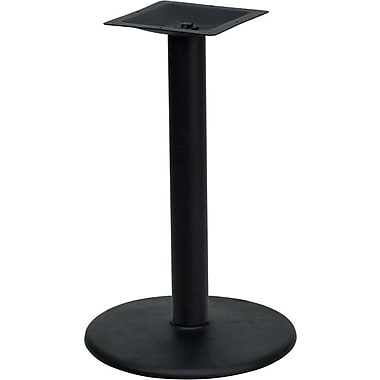Flash Furniture – Base de table de restaurant ronde en fonte, 24 po, colonne à hauteur de bar de 4 po de diamètre, noir