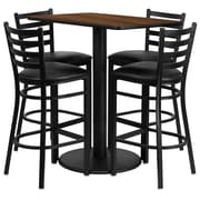Flash Furniture 42.25'' Modern Foot Ring/Bar Vinyl Bar Stool, Black (RSRB1020)