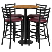 Flash Furniture 42.25'' Modern Foot Ring/Bar Vinyl Bar Stool, Burgundy (RSRB1027)