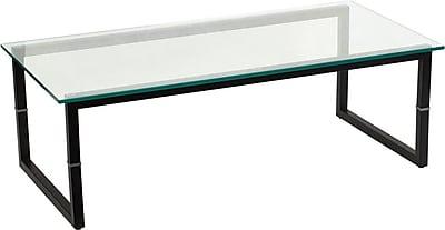 Flash Furniture Glass Coffee Table, Clear Glass, Each (FDCOFFEETBL)