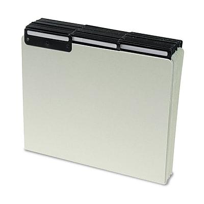 Smead® Pressboard Guides, Flat Metal 1/3-Cut Tab with Insert (Blank), Letter Size, Gray/Green, 50 per Box (50534)