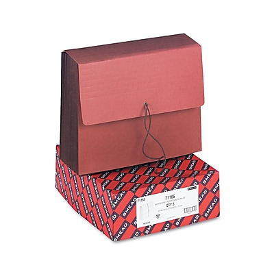 Smead TUFF Expanding Wallets, Redrope, Letter, Each (71165)