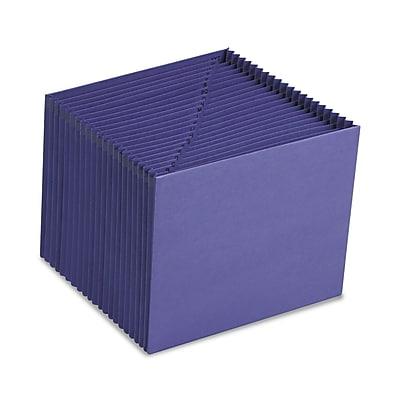 Smead® Expanding File, Alphabetic (A-Z), 21 Pockets, Letter Size, Purple (70721)