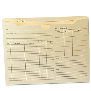 Globe-Weis® Letter Recycled File Jacket w/2