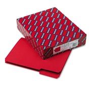 Smead® Interior File Folder, 1/3-Cut Tab, Letter Size, Red, 100/Box (10267)