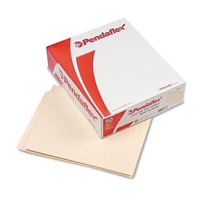 Esselte End Tab File Folder, 1 Fastener, Manila, LETTER-size Holds 8 1/2